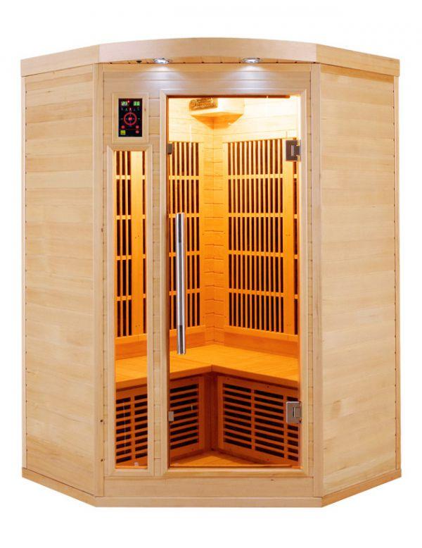 sauna ad infrarossi 2 3 posti con irradiatori in