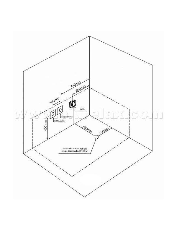 vasca idromassaggio misure 153x85 cm