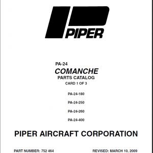 Piper PA-24 Comanche Aircraft Maintenance Manuals Download