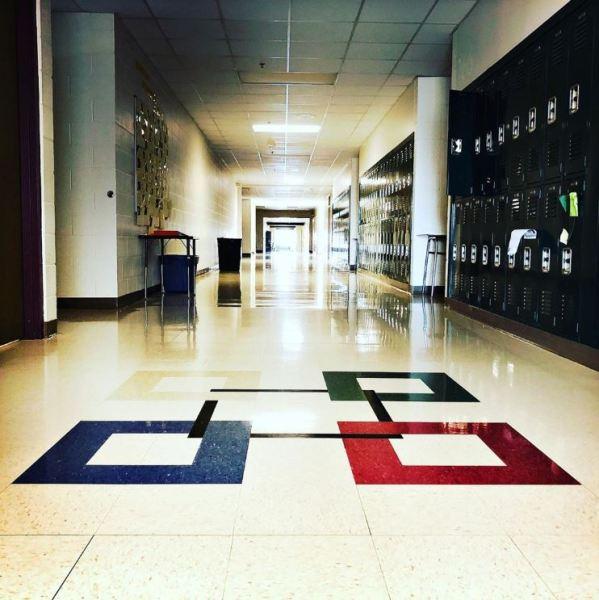 hallway building campus