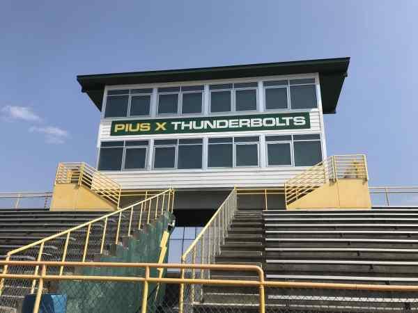 aldrich field track press box