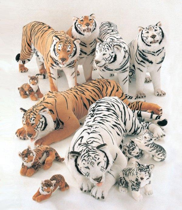Plush White Siberian Tigers Realistic Stuffed Animals