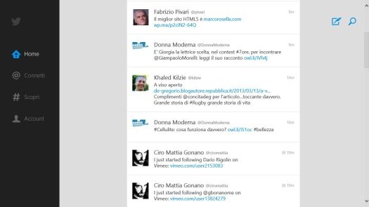 twitter app windows 8 e RT (ufficiale)