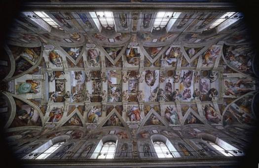 Volta veduta d'insieme Cappella Sistina - Copyright - Governatorato dello Stato della Cittä del Vaticano