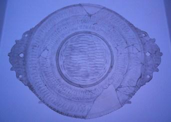 piatto luce azzurra, la teca dei vetri, museo archeologico nazionale, Adria