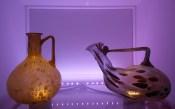 recipienti, la teca dei vetri, museo archeologico nazionale, Adria