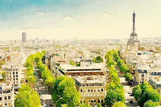 acquerello-Parigi-Waterlogue