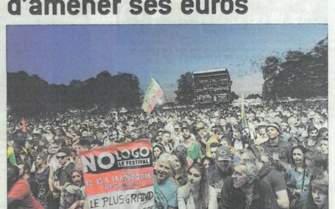 AU NO LOGO, PLUS BESOIN D'AMENER SES EUROS – LE PROGRÈS JURA – ARTICLE
