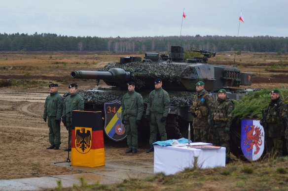 "exercise ""Griffin Sword"" with the German and Polish cross-attachment units 2018 at Jägerbrück, Germany"