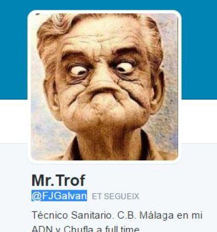 Captura de pantalla deltwitter de Mr.Trof