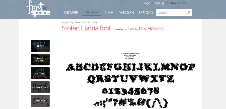 Font Space: font gratis online scaricabili