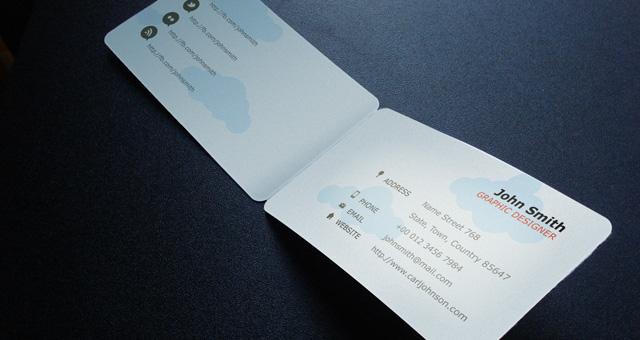 folding business card template