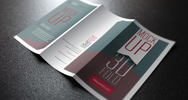 Psd Tri Fold Mockup Template Psd Mock Up Templates Pixeden