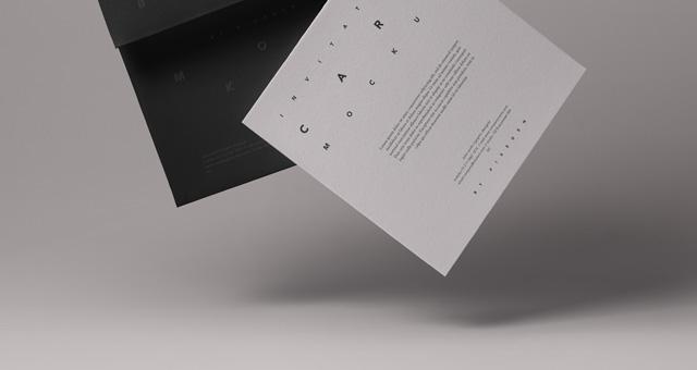 Gravity Card Psd Invitation Mockup  Psd Mock Up Templates
