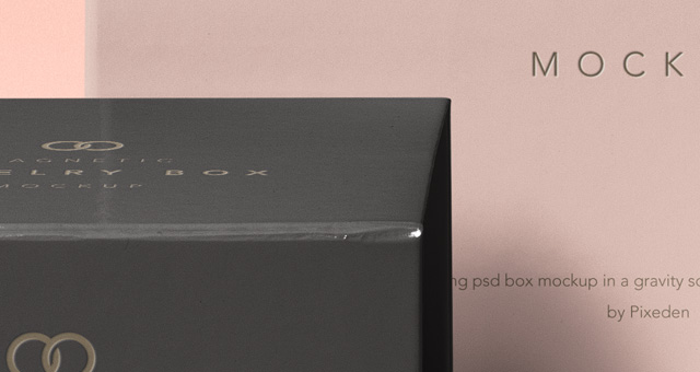 Psd Jewelry Magnetic Box Mockup Vol2 Psd Mock Up