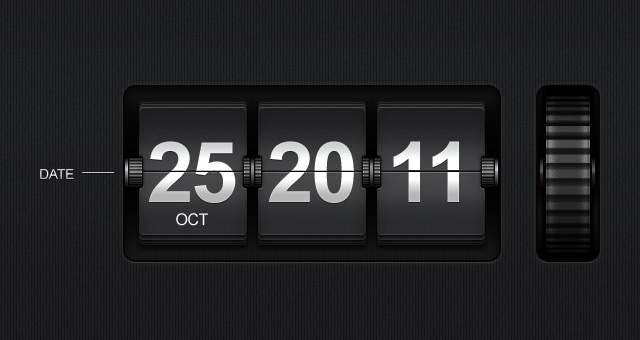 Flip Time Date Display Psd Mobile Apps Pixeden