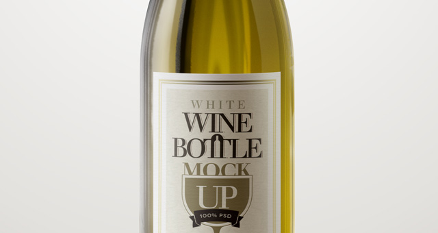 Psd White Wine Bottle Mockup Psd Mock Up Templates Pixeden