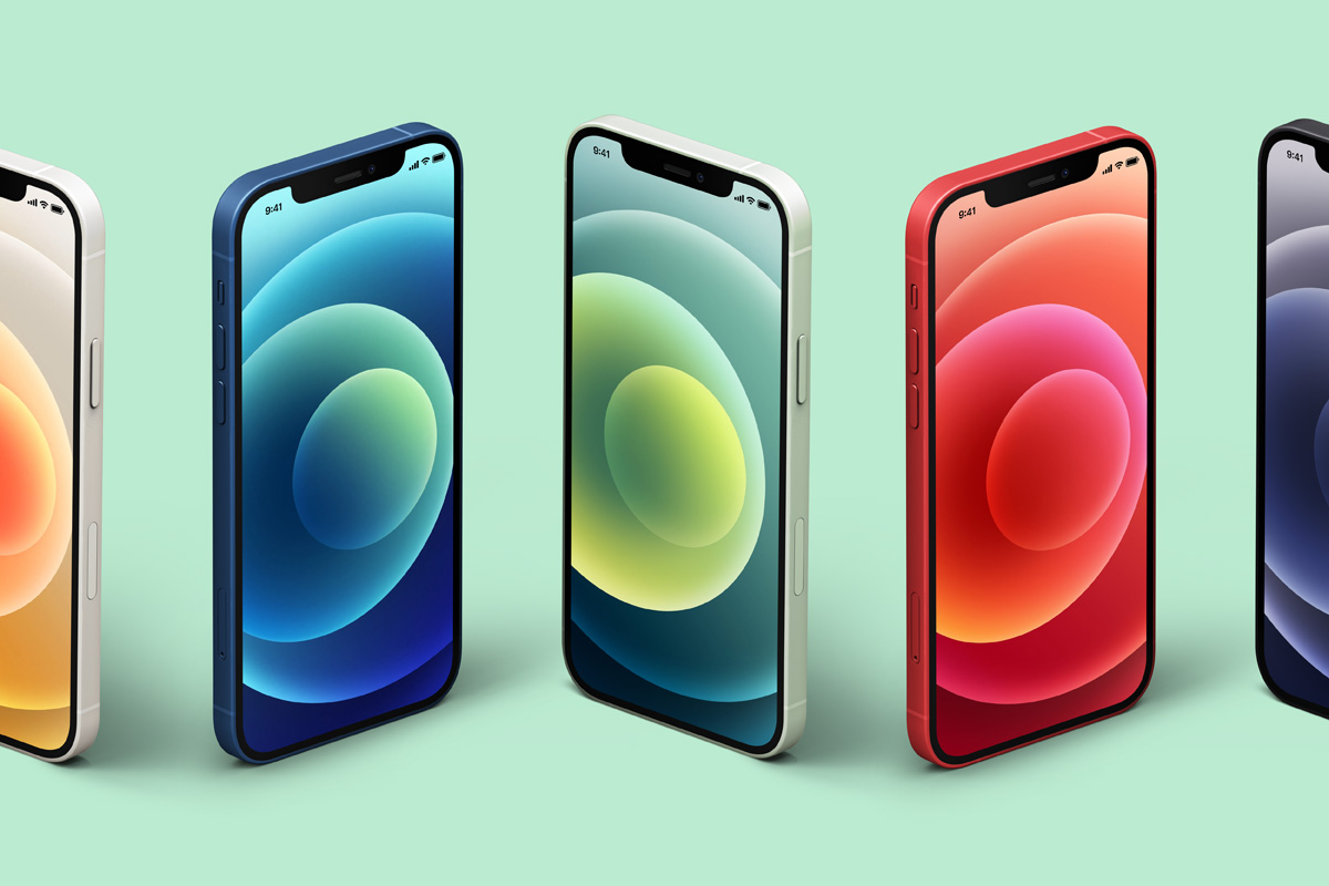 Here are free iphone mockup templates for the new 11, 11 pro, pro max, x, 8 and xs max versions for web designers and creatives. Isometric Psd Iphone 12 Mockup Set Psd Mock Up Templates Pixeden