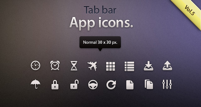 Tab Bar Icons iOS vol5  Mobile Apps Icons  Pixeden