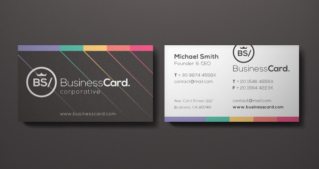Corporate Business Card Vol 5  Business Cards Templates  Pixeden