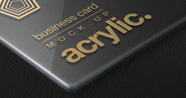 Acrylic Psd Business Card MockUp  Psd Mock Up Templates  Pixeden