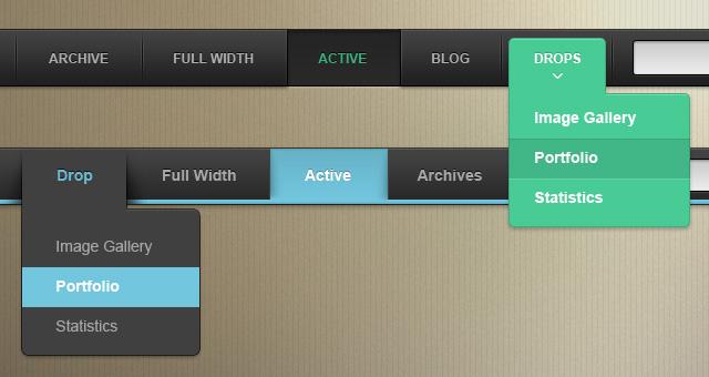 Psd Web Menu Bars Vol1 Psd Web Elements Pixeden