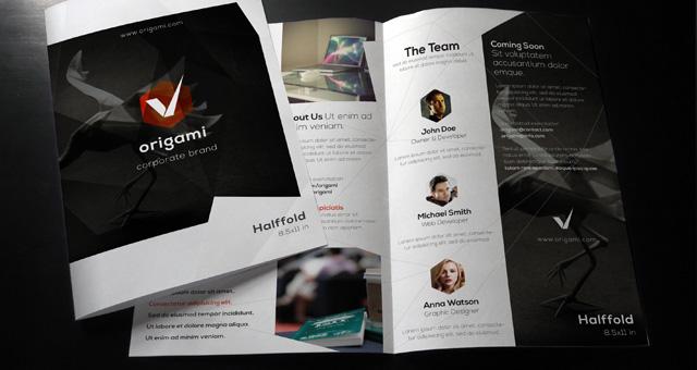 Origami Bi Fold Brochure Template Brochure Templates