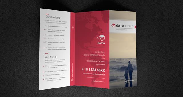 Doma Tri Fold Brochure Template Brochure Templates Pixeden