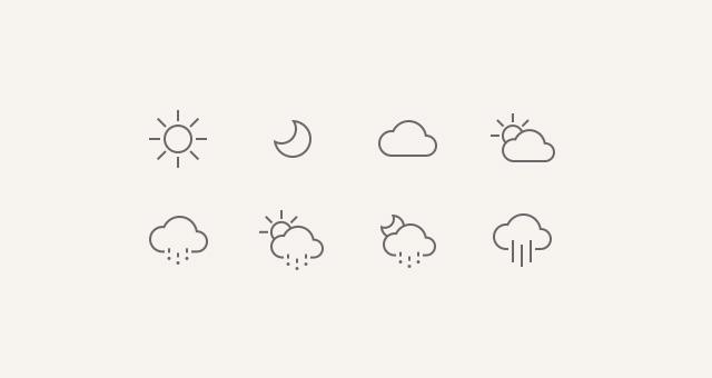 Weather Icons IOS 7 Conceptual Icons Pixeden