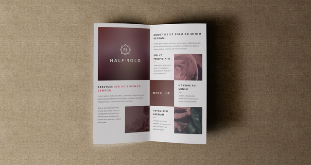 Psd Bi Fold Mockup Template Vol4  Psd Mock Up Templates
