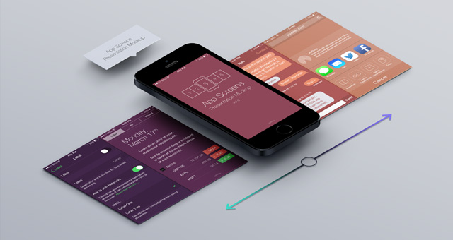 Perspective App Screens Mock Up 6 Psd Mock Up Templates
