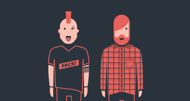 Indie Hipster Vector Character Set Vector Characters