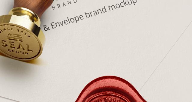 Psd Wood Wax Seal Stamp Mockup  Psd Mock Up Templates