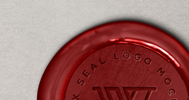 Wax Seal Logo MockUp Template Vol2  Psd Mock Up