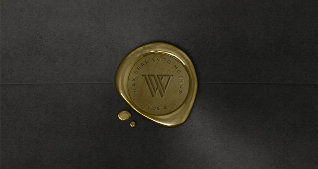 Wax Seal Logo MockUp Template Vol2  Psd Mock Up Templates  Pixeden