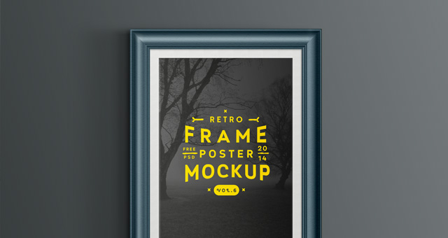 Psd Poster Frame Mockup Vol6  Psd Mock Up Templates  Pixeden