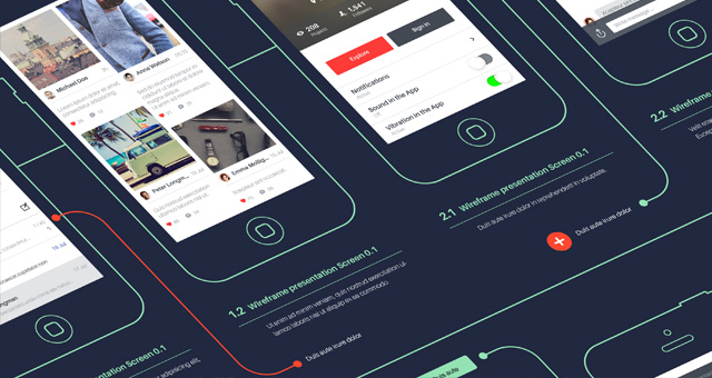 Psd Wireframe App Showcase Mockup Psd Mock Up Templates