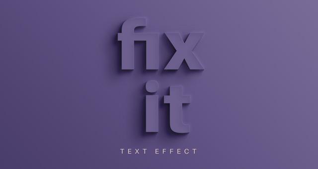Fix It Psd Text Effect Photoshop Text Effects Pixeden