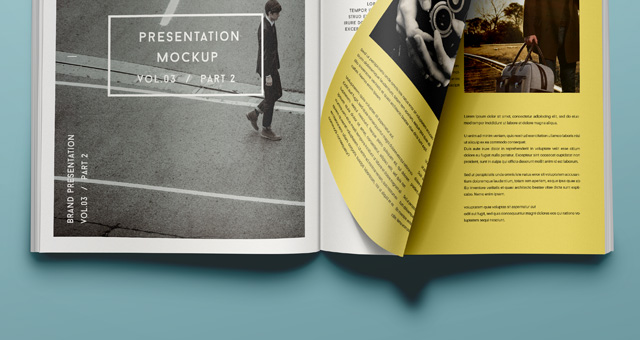 Psd Magazine Mockup View Vol32  Psd Mock Up Templates