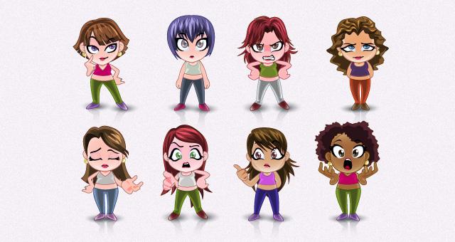 Vector Manga Avatar Faces Vol 2 Vector Characters Pixeden