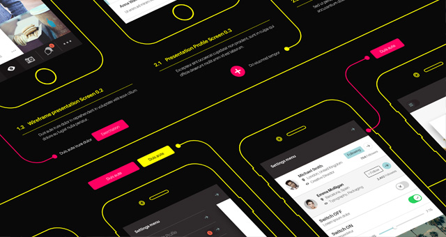 Psd Wireframe App Mockup Vol2 Psd Mock Up Templates