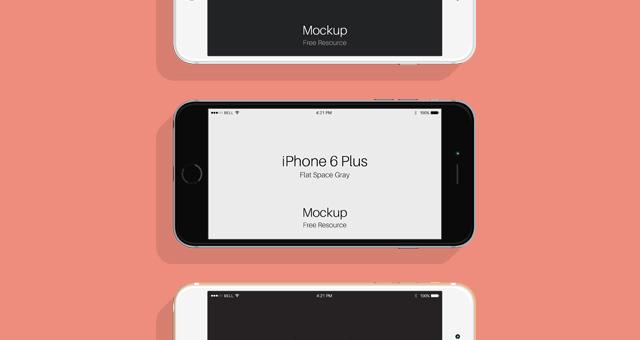 Flat Psd iPhone 6  6s Mockup  Psd Mock Up Templates  Pixeden