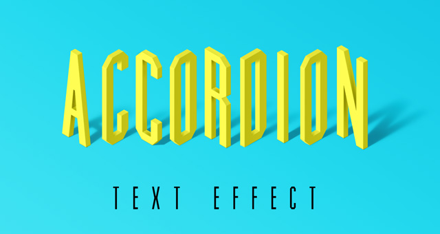 Accordion Psd Text Effect Photoshop Text Effects Pixeden