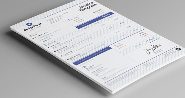 Professional Invoice Template Misc Print Pixeden