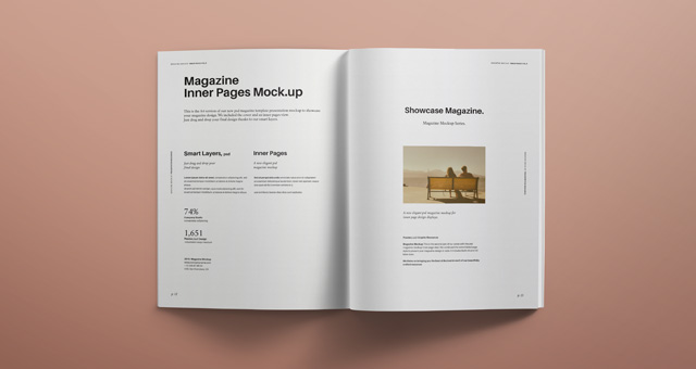 Psd Magazine Mockup View Vol6  Psd Mock Up Templates  Pixeden