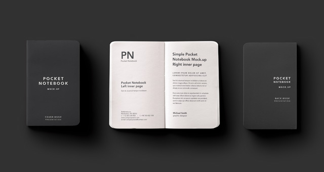 Pocket Psd Notebook Mockup  Psd Mock Up Templates  Pixeden