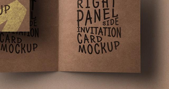 Psd Kraft Paper Invitation Card  Psd Mock Up Templates