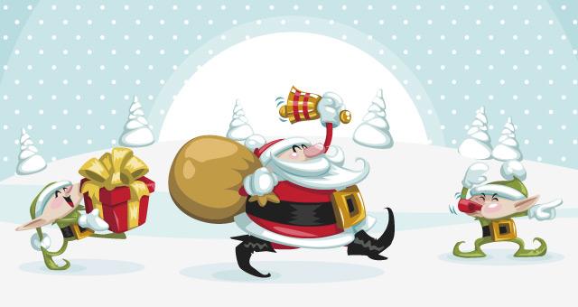 Christmas Vector Art Characters Pack Conceptual Vectors