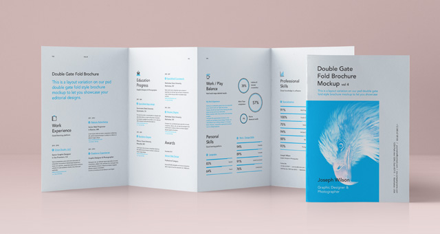 Double Gate Fold Brochure Ideal Vistalist Co