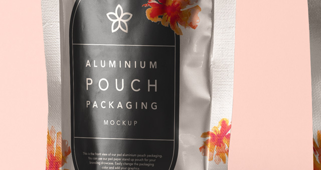 Psd Aluminium Foil Packaging Mockup  Psd Mock Up